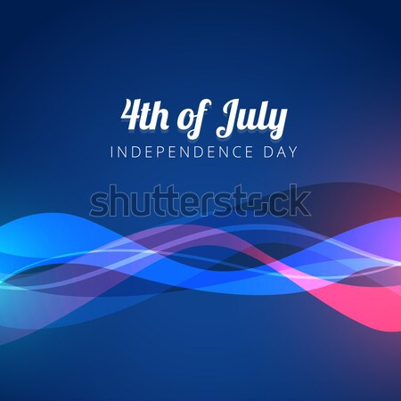 wave style 4th of july Stock photo © Pinnacleanimates