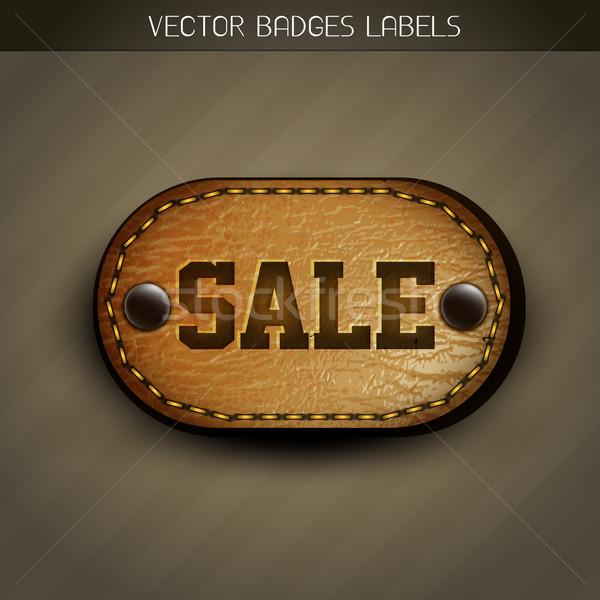 sale leather label Stock photo © Pinnacleanimates