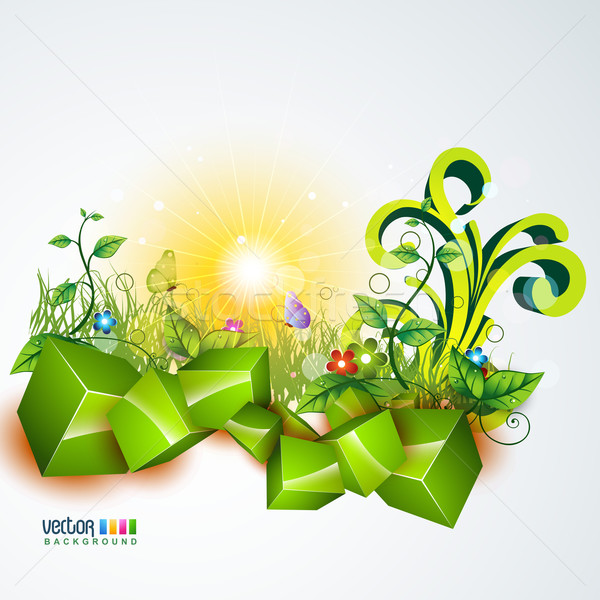 vector nature background Stock photo © Pinnacleanimates