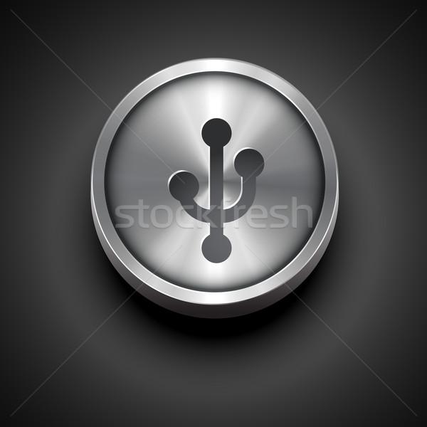 metallic usb icon Stock photo © Pinnacleanimates
