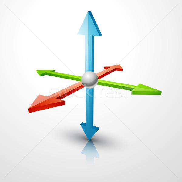 3d coordinates axis Stock photo © Pinnacleanimates