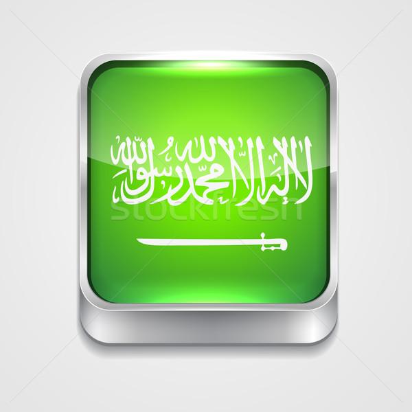 Bayrak Suudi Arabistan vektör 3D stil ikon Stok fotoğraf © Pinnacleanimates