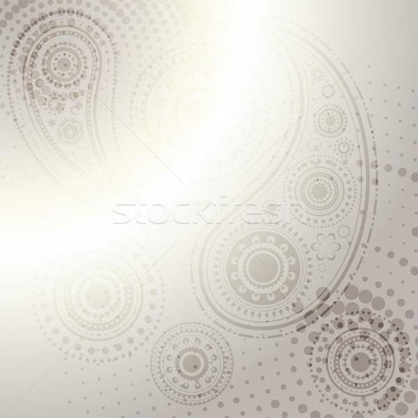 vector indian paisley design background  Stock photo © Pinnacleanimates