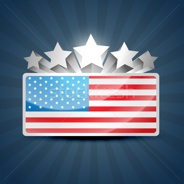 american flag Stock photo © Pinnacleanimates