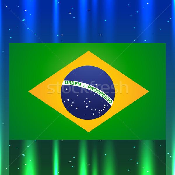 Brasil bandera diseno artístico ola tarjeta Foto stock © Pinnacleanimates