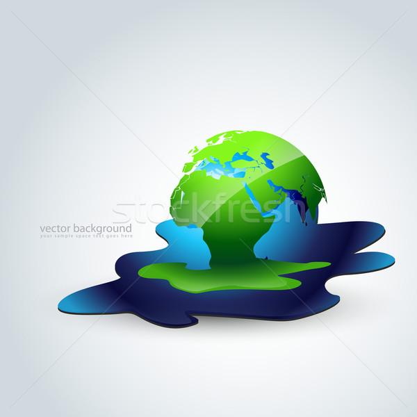 Olvad Föld vektor terv művészet absztrakt Stock fotó © Pinnacleanimates