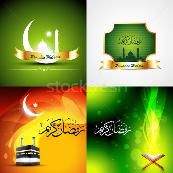 vector attractive set of  ramadan kareem background Stock photo © Pinnacleanimates