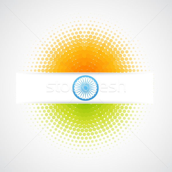 Vector indian vlag ontwerp kunst abstract Stockfoto © Pinnacleanimates