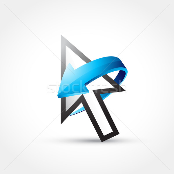 mouse cursor with arrow Stock photo © Pinnacleanimates