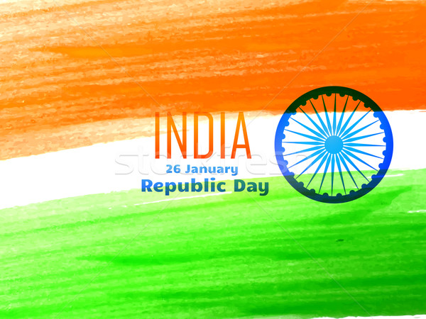 indian republic day flag design made with color strokes  Stock photo © Pinnacleanimates