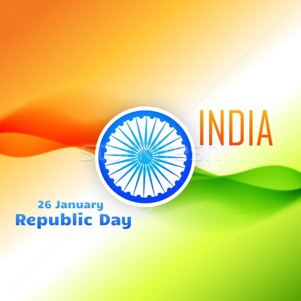 tri color indian flag design for republic day Stock photo © Pinnacleanimates