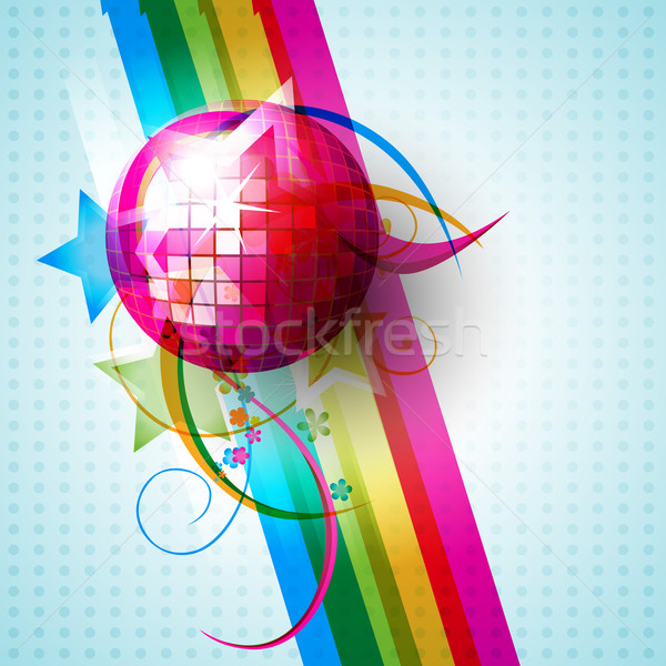 вектора Disco Ball дизайна иллюстрация вечеринка аннотация Сток-фото © Pinnacleanimates