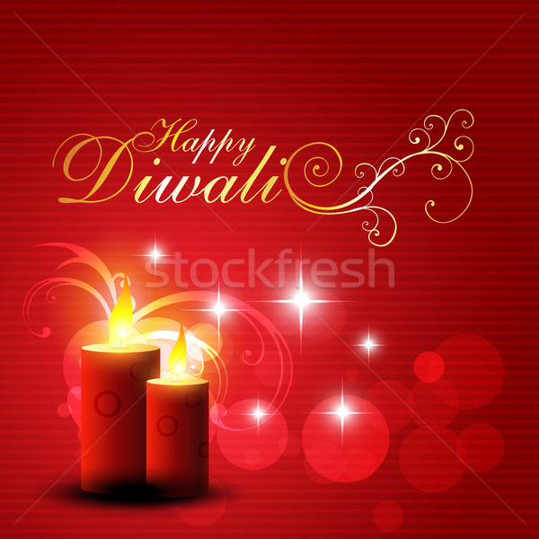 Feliz diwali hermosa rojo color Foto stock © Pinnacleanimates