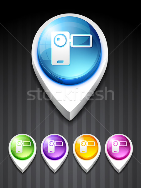 vector camera recorder icon Stock photo © Pinnacleanimates