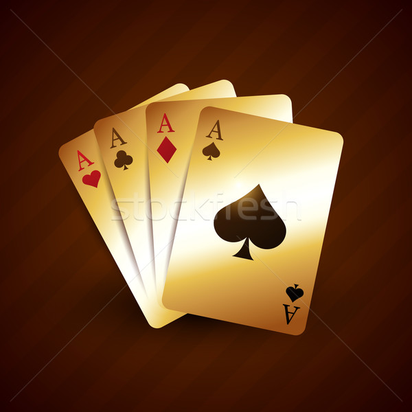 golden casino playing card with four aces Stock photo © Pinnacleanimates
