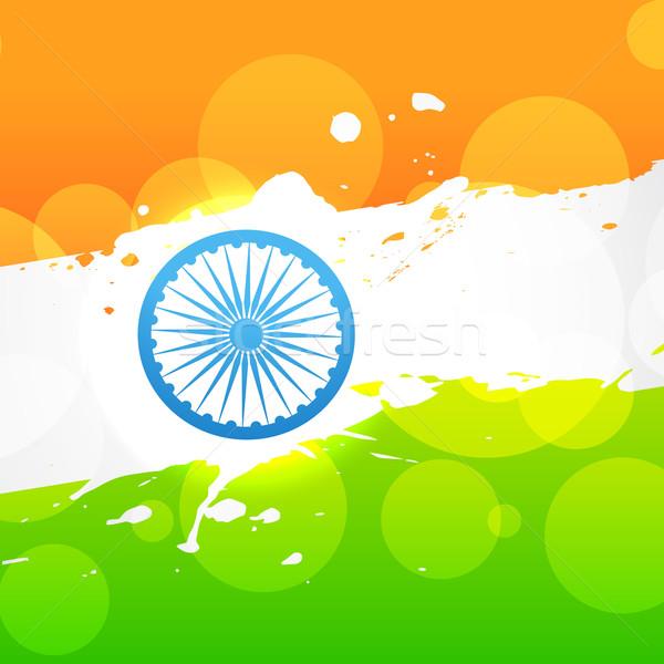 Vettore India bandiera indian design arte Foto d'archivio © Pinnacleanimates
