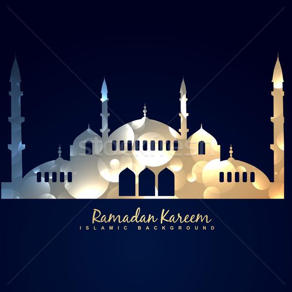 Brillante mezquita ilustración elegante diseno resumen Foto stock © Pinnacleanimates