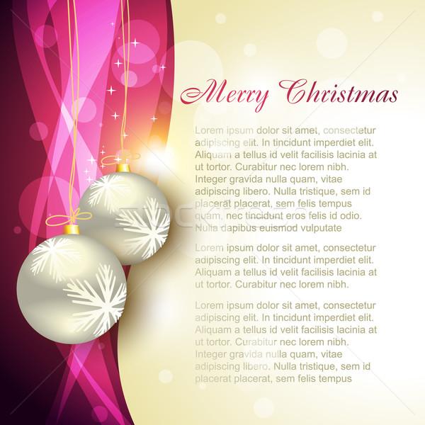 Christmas projektu piękna wektora sztuki szczęśliwy Zdjęcia stock © Pinnacleanimates