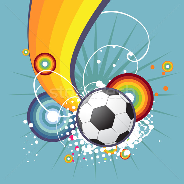 Funky voetbal ontwerp abstract artistiek voetbal Stockfoto © Pinnacleanimates