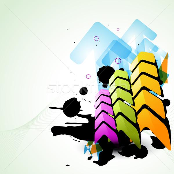 advancing up arrow Stock photo © Pinnacleanimates