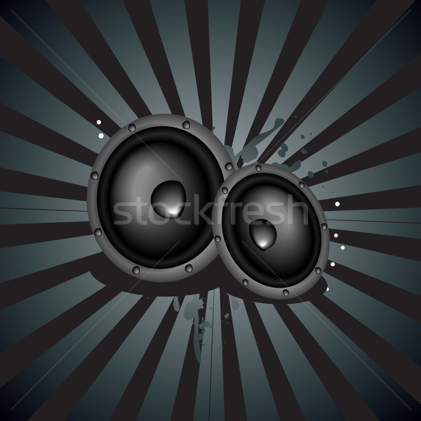 Muziek spreker vector abstract ontwerp verf Stockfoto © Pinnacleanimates