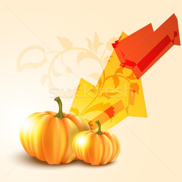 Halloween tök űr fa absztrakt terv háttér Stock fotó © Pinnacleanimates