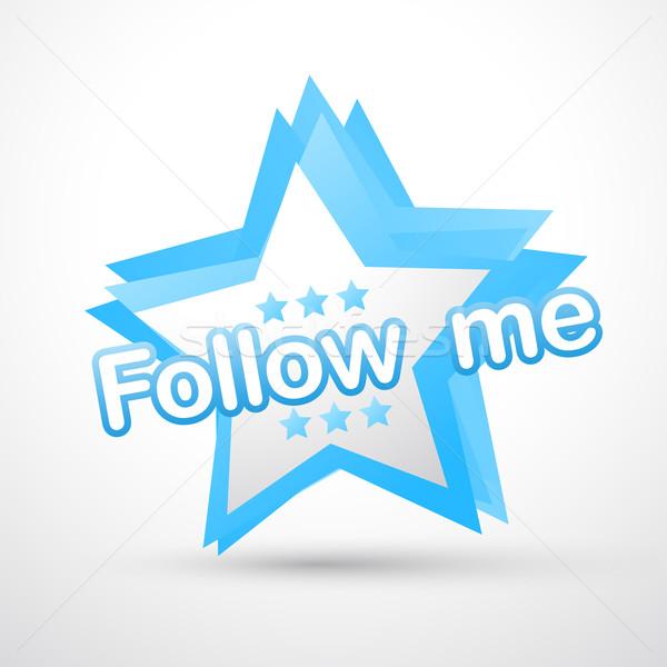 social follow me Stock photo © Pinnacleanimates