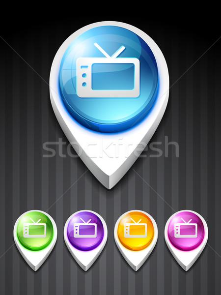 television icon Stock photo © Pinnacleanimates