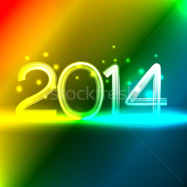 neon style happy new year Stock photo © Pinnacleanimates