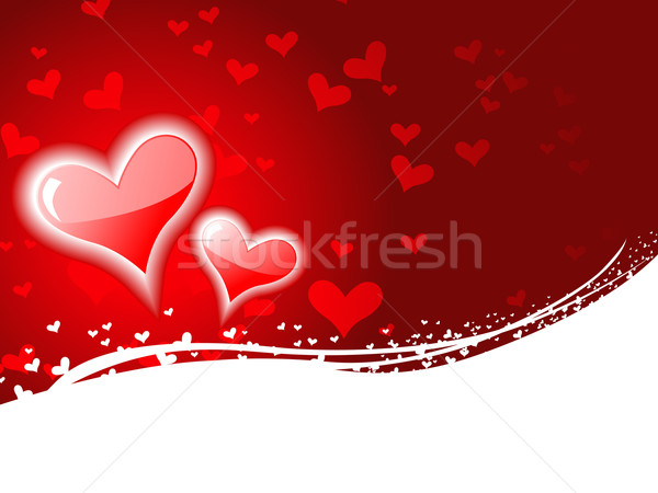 Heart background with space for text Stock photo © Pinnacleanimates