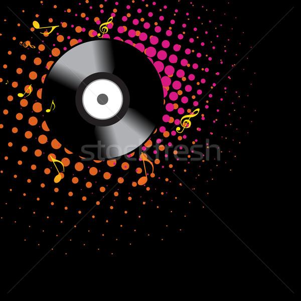 Bakelit forma terv sötét zene buli Stock fotó © Pinnacleanimates