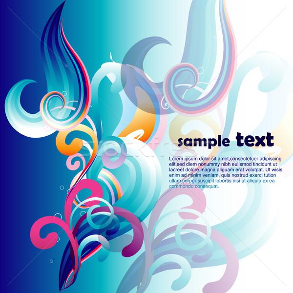 Vector artistiek ontwerp illustratie abstract kunst Stockfoto © Pinnacleanimates