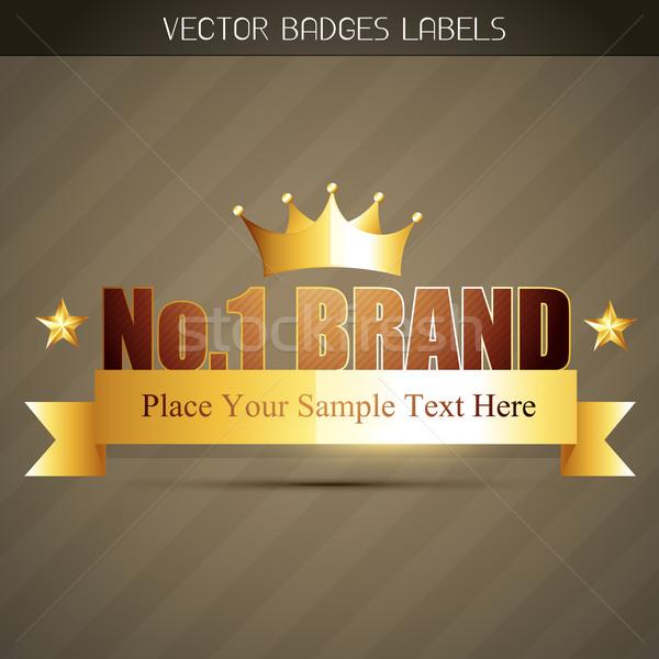 Origineel label geen merk product teken Stockfoto © Pinnacleanimates