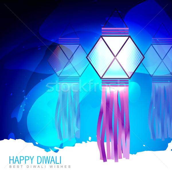 happy diwali lamp Stock photo © Pinnacleanimates