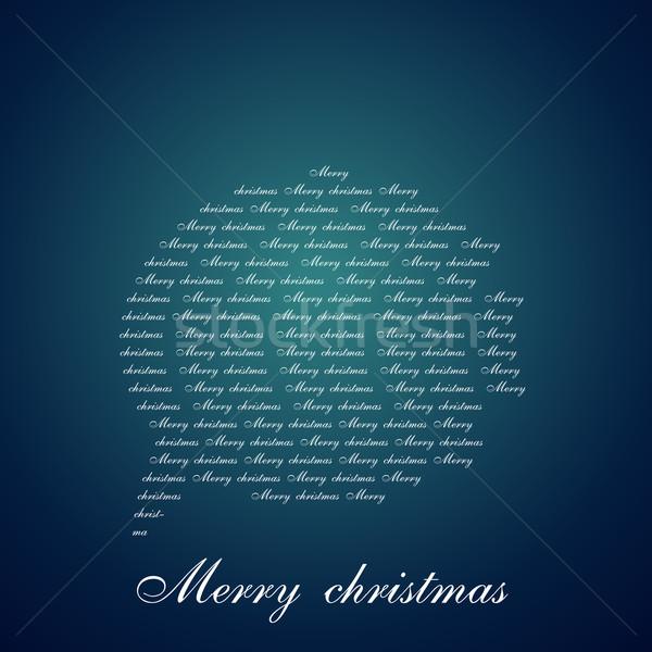 chat bubble of christmas Stock photo © Pinnacleanimates