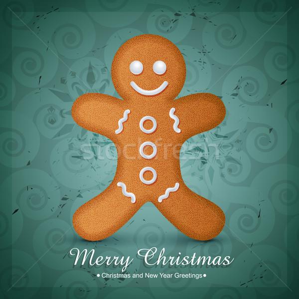 Natale cookie design vettore illustrazione sorriso Foto d'archivio © Pinnacleanimates