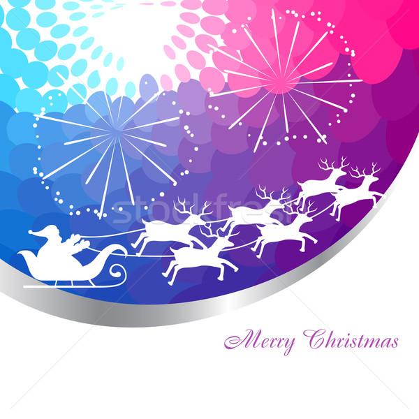 santa claus sleigh Stock photo © Pinnacleanimates