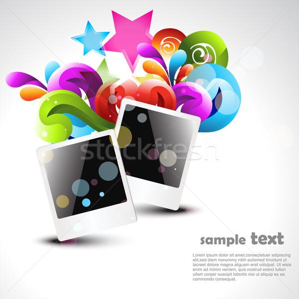 vector photo frame Stock photo © Pinnacleanimates