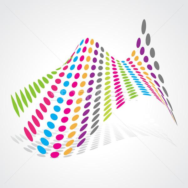 Absztrakt művészi terv vektor színes művészet Stock fotó © Pinnacleanimates