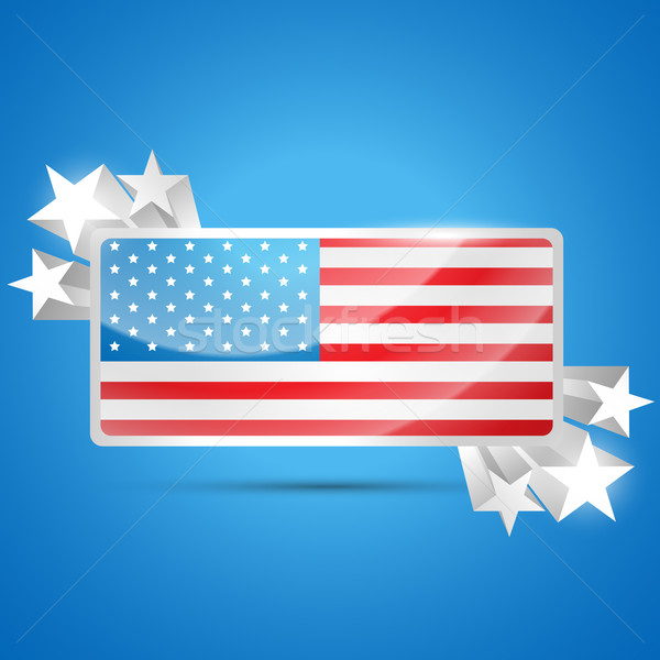 american flag label Stock photo © Pinnacleanimates