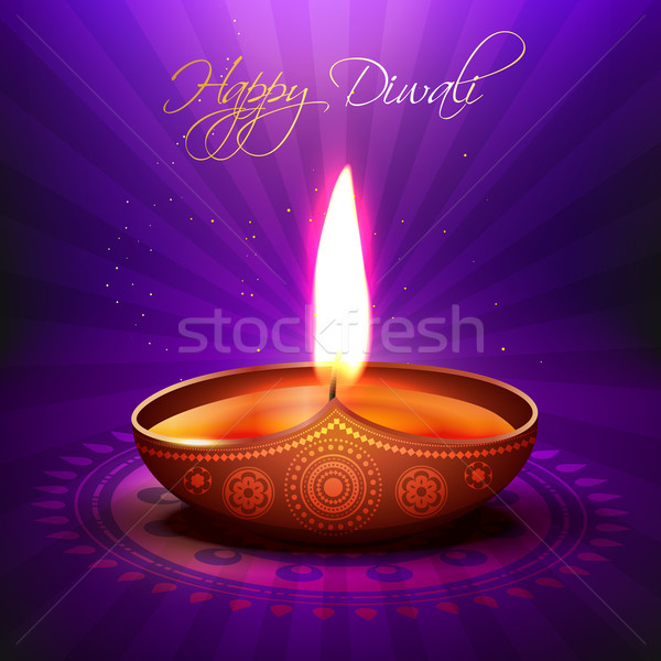beautiful vector diwali diya Stock photo © Pinnacleanimates