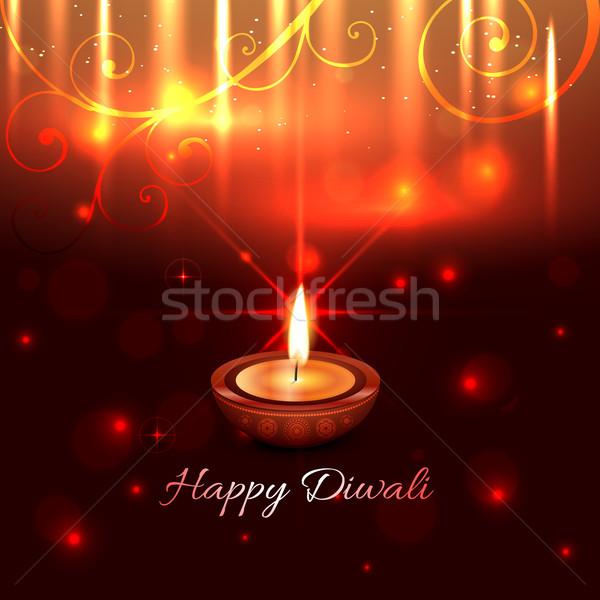 Artistic design of diwali diya Stock photo © Pinnacleanimates