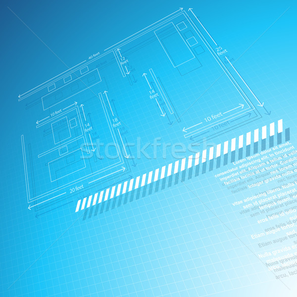 Techniques dessin vecteur plan architectural construction Photo stock © Pinnacleanimates