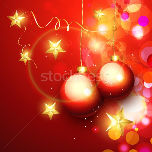 Natale bella allegro luce sfondo Foto d'archivio © Pinnacleanimates