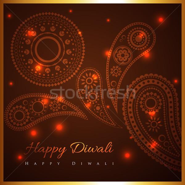 artistic background of diwali Stock photo © Pinnacleanimates