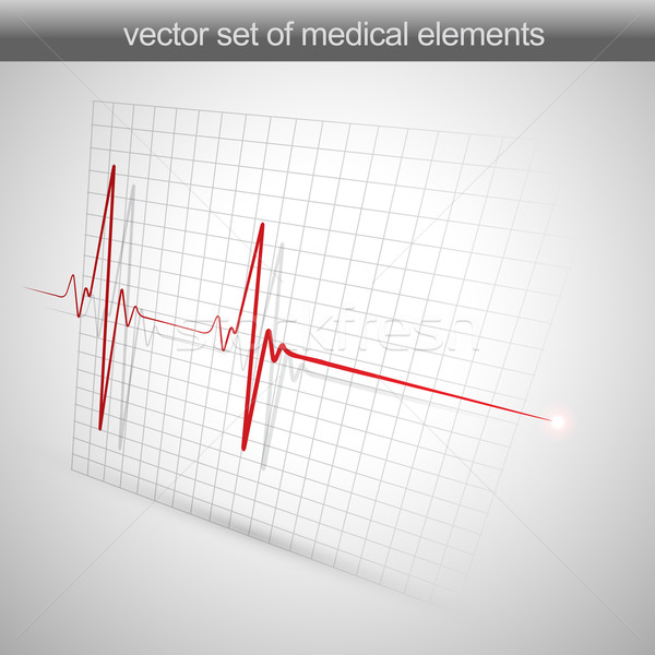 Bicie serca serca szpitala muzyka graficzne Widok Zdjęcia stock © Pinnacleanimates