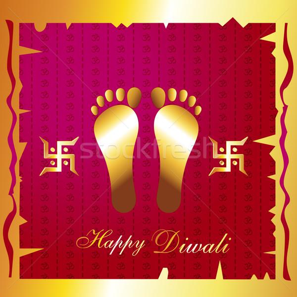 hindu diwali festival background Stock photo © Pinnacleanimates