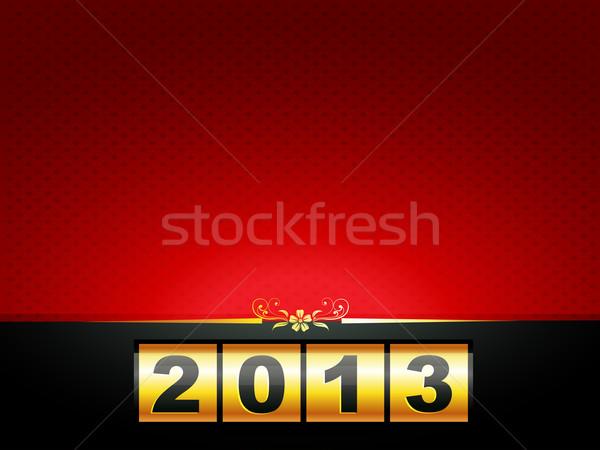 Boldog új évet terv vektor űr boldog művészet Stock fotó © Pinnacleanimates