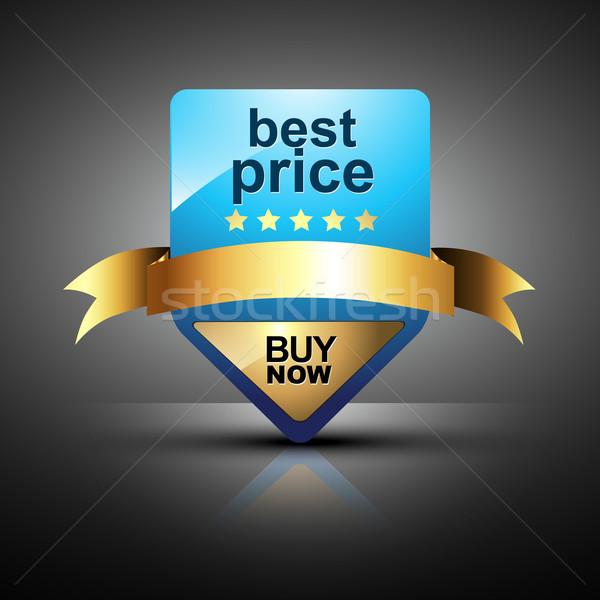 Beste prijs label vector ontwerp teken druk Stockfoto © Pinnacleanimates