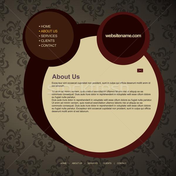 ストックフォト: ウェブ · レイアウト · ヴィンテージ · スタイル · ウェブサイト · ビジネス